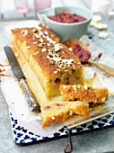 Rhubarb loaf cake