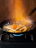Crepe Suzette being flambeed