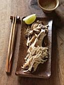 Kinoko hoiruyaki (mushroom dish, Japan)