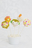 Jolly cake pops decorated for spring