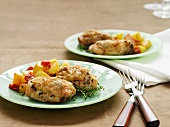 Herb chicken with pepper potatoes