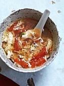 Tomotama Suppe mit Tomaten und Ei (Japan)