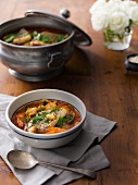 Shellfish Cioppino in a Bowl