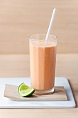 Papaya-wheat germ smoothie