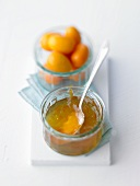 Orange marmalade with kumquats