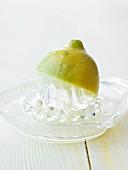 Lemon with citrus reamer