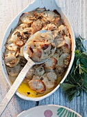 Potato casserole with rosemary (France)
