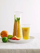 Peach-mango cocktail
