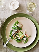Asian crab salad with flaked coconut and lime dressing