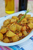 Batata Harra (spicy potatoes, Lebanese side dish)