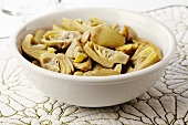 A Bowl of Quartered Artichoke Hearts