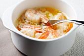 Shrimp in Melted Butter; Fork