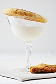 Milk in a Stem Glass with Snickerdoodles