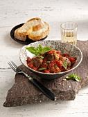 Polpette al sugo (Fleischbällchen mit Tomatensauce, Italien)