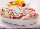 Salzburger Nockerln (sweet Austrian soufflé) with fruit puree