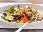 Grigliata di verdure ai calamari (grilled vegetables with squid)