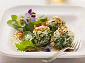 Ricotta and spinach dumplings