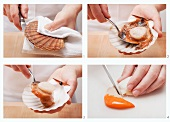 Shucking and preparing a scallop