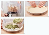 Preparing savoury shortcrust pastry in a mixer and blind baking the pastry case