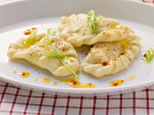 Kärntner Nudeln (Austrian ravioli) with quark and potato filling