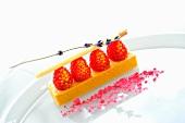 Raspberry and vanilla dessert