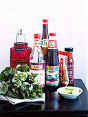 Spicy sauces for an Asian-themed dinner party