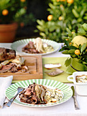 Roast lamb with fennel, anchovies and olives