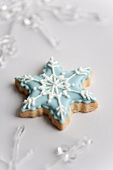 Iced shortbread snowflake