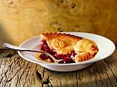 Cherry pie with vanilla sauce (England)