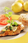 Chicken breast with lemons and sage