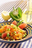 Carrot salad with grapefruit & green pepper