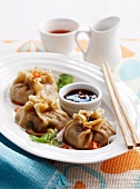 Dim sum with beef filling