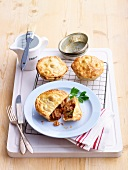 Mini-pies with chicken