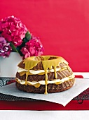 Banana and caramel layer cake