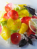 Red and yellow beetroot salad