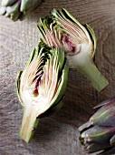 Artichoke, halved