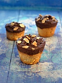 Chocolate and almond cakes
