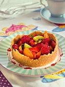 Fruit salad tartlet