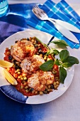 Monk fish with vegetable sauce (Catalan)