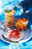 Various peach desserts