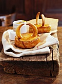 Miniature pies with horns
