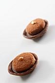 Coffee and chocolate tartlets