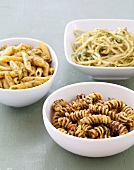 Three Assorted Pastas with Pesto