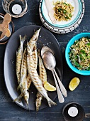 Garfish with tabouleh
