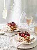 Strawberry-watermelon cake