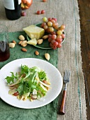 Field Green Salad with Almonds, Grapes and Manchego Cheese