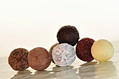 Assorted chocolate truffles