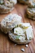 Celery Walnut Scone with Stilton Cheese