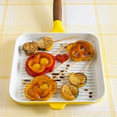 Grilled vegetable 'lollies'