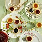 Mini jam tarts and tea